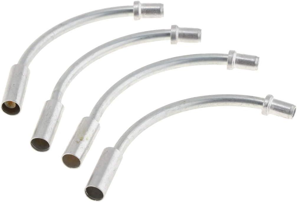 protection des accessoires de tuyau tuyau de coude avec bottes en plastique nouvelle marque 1 paire de nouilles de frein en v/élo avec guide de c/âble ensemble de c/âbles de frein manchons argent /&