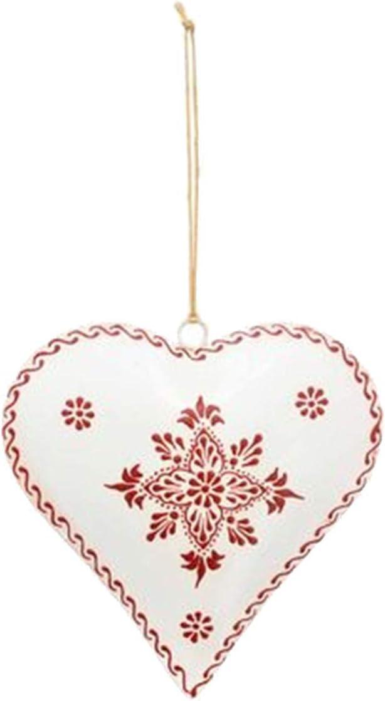 Mitienda D/écoration murale en m/étal avec amour en forme de c/œur Blanc