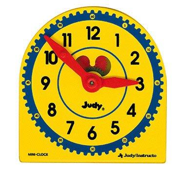 JUDY PLASTIC CLOCK CLASS PK 6-PK by Carson-Dellosa