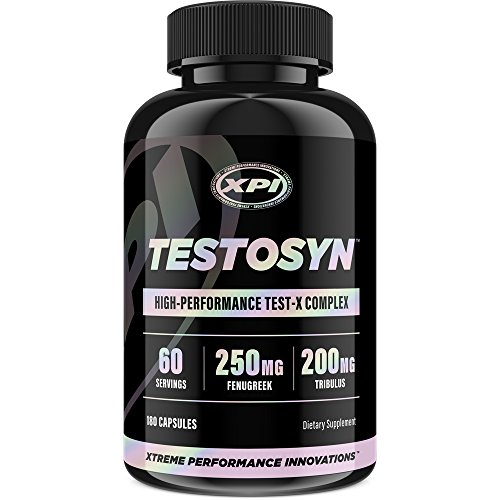 Testosyn High Performance Testosterone Booster Supplement, 180 Count