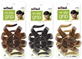 Scunci No-slip Grip Octopus Clip, 8.5 Cm, [Natural, Tortoise Shell, Black] Set of 3