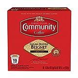 Community Coffee Sugar Dusted Beignet Flavored Medium Roast Single Serve 18 Ct Box, Compatible with Keurig 2.0 K Cup Brewers, Medium Full Body Light Sweet Taste, 100% Arabica Coffee Beans