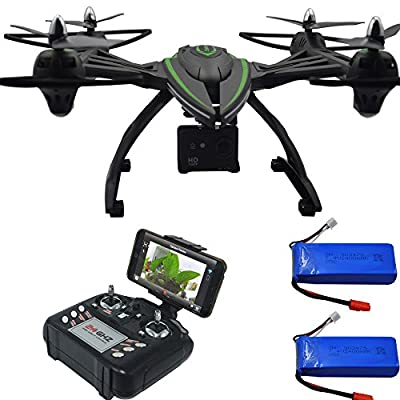 Blomiky 506HG WIFI FPV 12.0MP Full-HD 1080P RC Quadcopter Drone With 170° Wide-angle Camera Large Size Professional RC Helicopter Extra 2 Battery 506HG