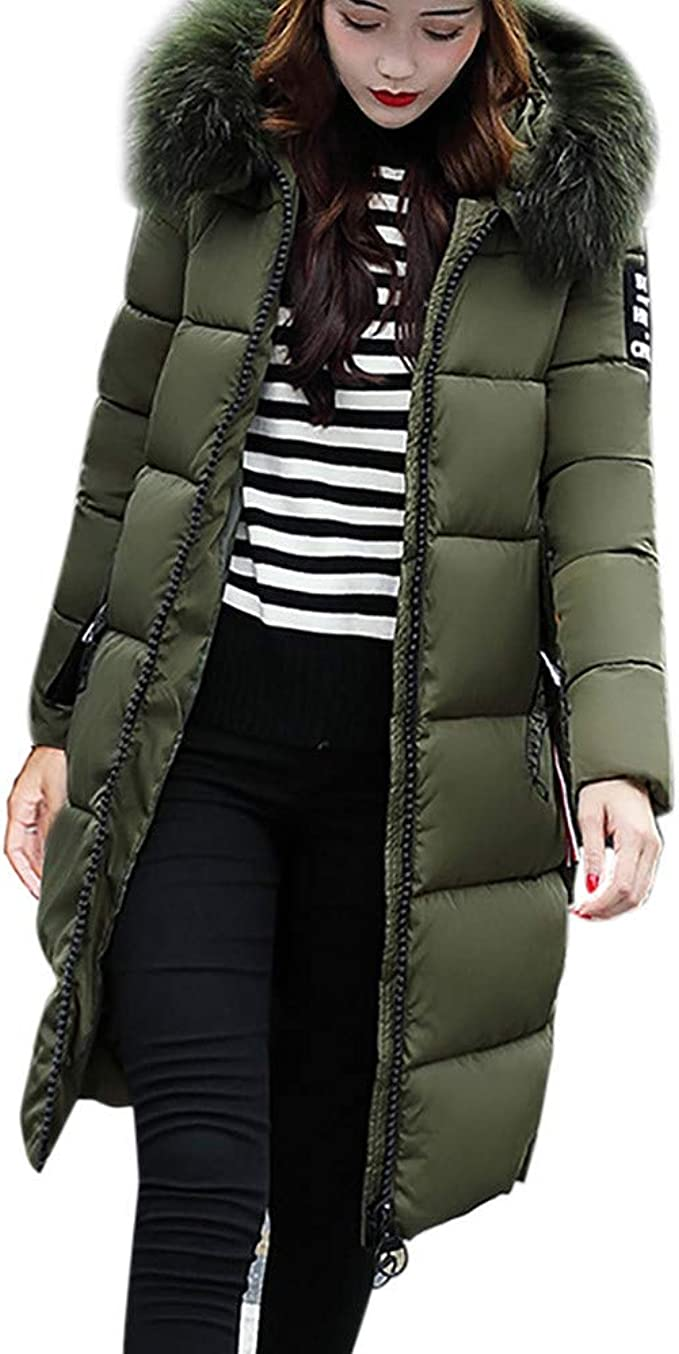 BHYDRY Damen Winterjacke Wintermantel Lange Daunenjacke Jacke Outwear Frauen Winter Warm Daunenmantel Solide Lässig Dicker Winter Slim Down Lammy