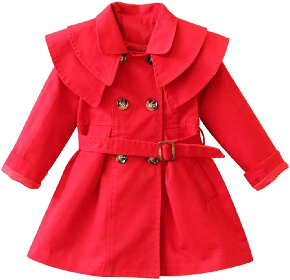 Stesti Trench Coats for Kids Girls Christmas Jackets Winter Coat for Baby Girl