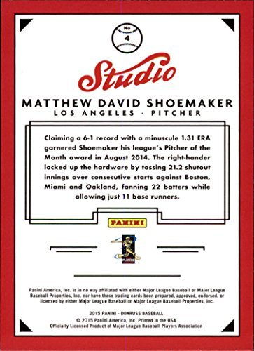 2015 Donruss Studio - 2015 Donruss Studio #4 Matt Shoemaker
