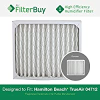 FilterBuy 04712 Hamilton Beach True Air Compatible Replacement Air Purifier Filter. Designed by FilterBuy to Fit True Air Model # 04381.