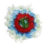 D-DOLITY-Funeral-Cemetery-Decoration-Handmade-Silk-Lily-Flower-Memorial-Flower-Wreath-60cm-H