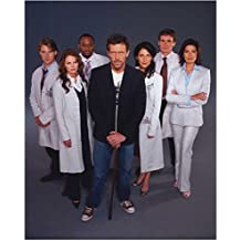 House M.D. with Jennifer Morrison as Dr. Allison Cameron Standing with Cast 8 x 10 Photo