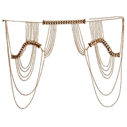 YiXin Hot Lady Tassels Link Harness Necklace Jewelry Body Shoulder Necklace Body Chain for Gift Box - Body Jewelry Hot