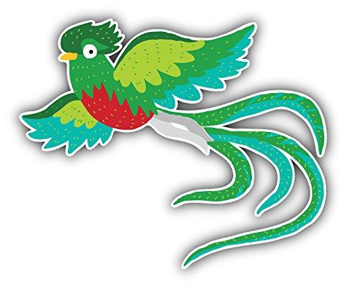 - Quetzal Bird Art Decor Bumper Sticker 5'' x 4''