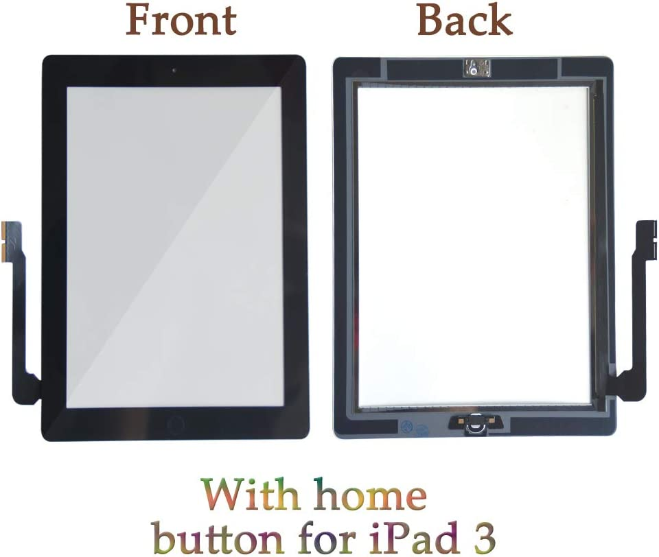 Camera Holder ,Preinstalled Adhesive,Frame Bezel Tool Kit. A1430 Whit Home Button A1416 Zentop White iPad 3 Touch Screen Digitizer Replacement Assembly Model A1403