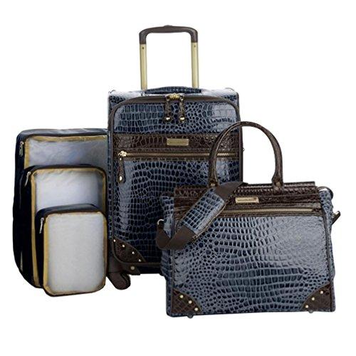 Samantha Brown 5-Piece Classic Luggage Set - Navy Blue