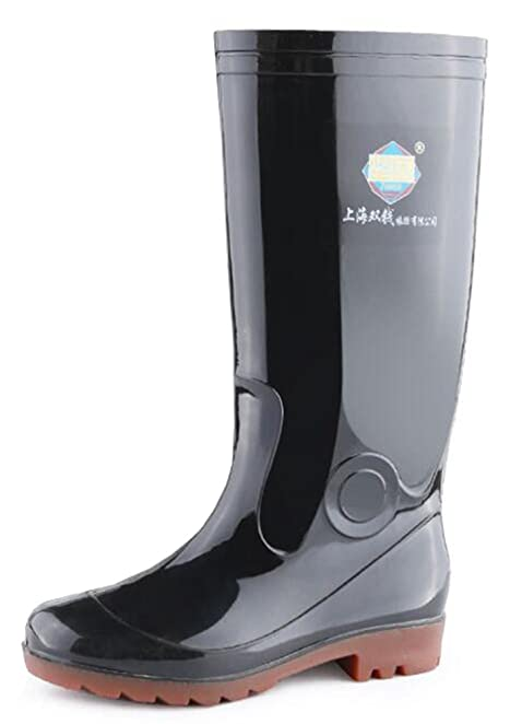 Men's Breathable Round Toe Waterproof Knee High Rain Boots Tall Wellies