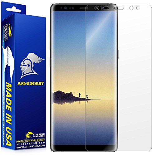 Price comparison product image Galaxy Note 8 Screen Protector [Edge to Edge] (New Version) Armorsuit MilitaryShield Lifetime Replacement HD Screen Protector For Note 8 - Clear