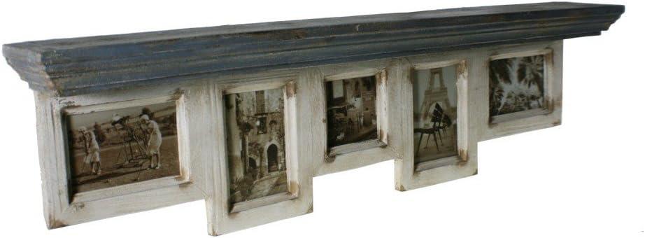 CAL FUSTER - Estante portafotos de Pared Envejecido Estilo Vintage. Medidas: 26,5x97x12 cm.: Amazon.es: Hogar