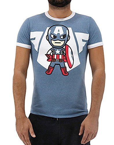 - Tokidoki Marvel Captain America Emblem Men's T-Shirt (X-Large)