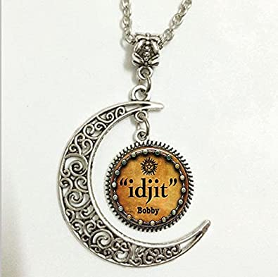 Amazon supernatural crowley pendant bobby quote necklace supernatural crowley pendantbobby quote necklacebobby moon jewelrymoon necklace glass art aloadofball Gallery