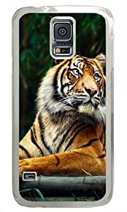 Siberian Tiger Custom Samsung Galaxy S5 Case and Cover - Polycarbonate - Transparent