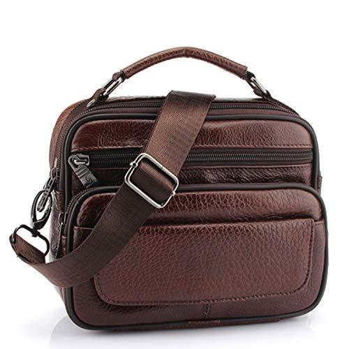 - Genuine Cowhide Leather Shoulder Bag Small Messenger Bags Men Travel Bag Handbags Bag Flap,8209