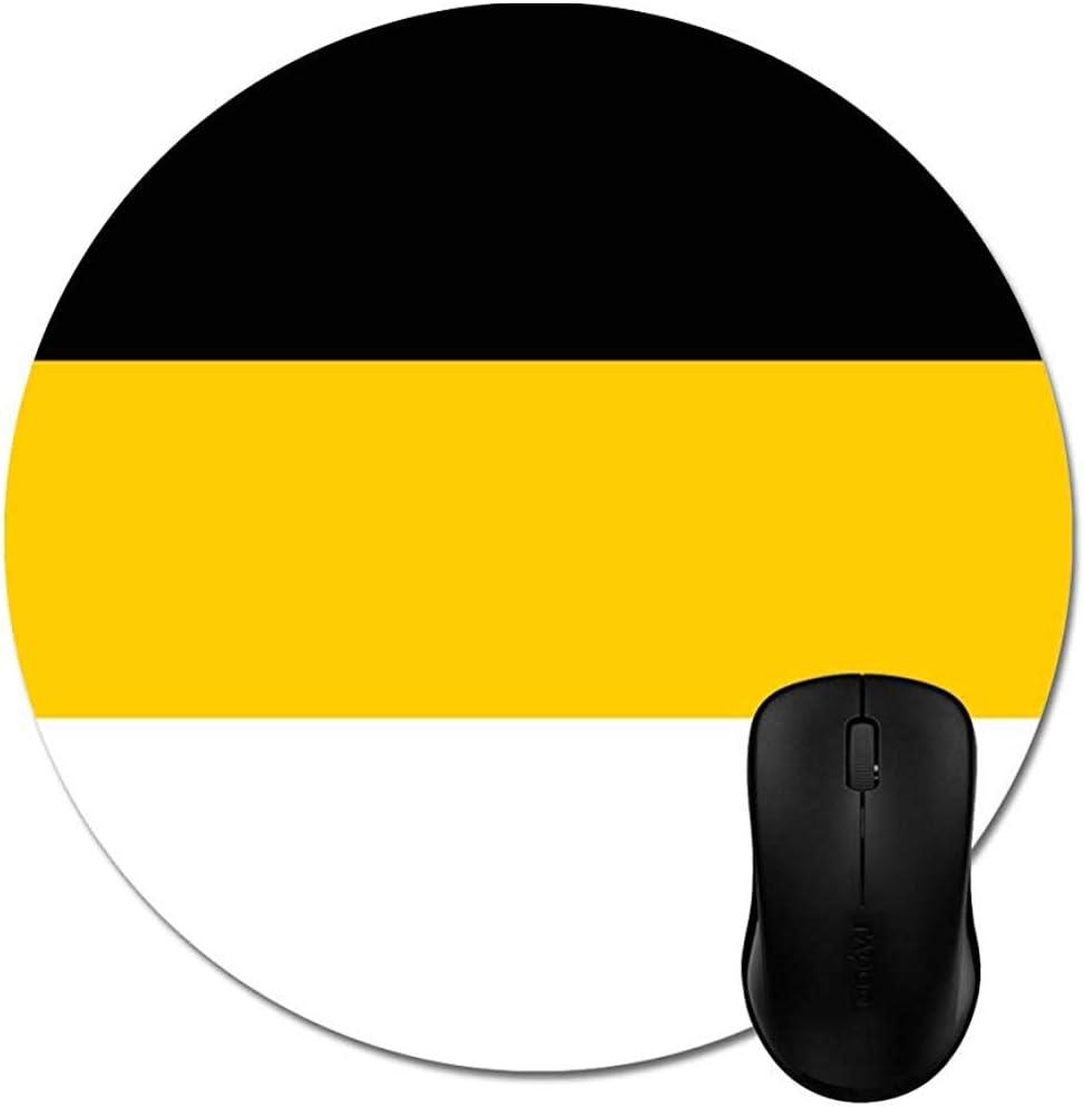 Alfombrilla de ratón Redonda Bandera Alfombrilla de ratón Blanca ...