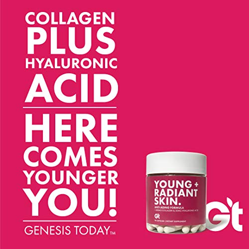 Genesis Today - Young & Radiant Skin – 1,000mg Collagen, Hyaluronic Acid & Biotin - Glowing Skin Support Supplement - 90… 5