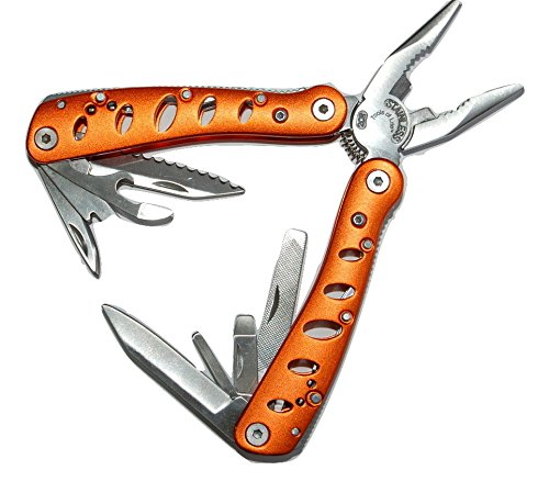 Multitool Deluxe Orange-Multi Tool Pouch Folding Hand Tool, Multifunction, Multipurpose Survival Too