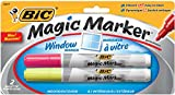 BIC Magic Markers Window Markers, Assorted, Tank Style, 2-pack (Yellow, Pink)
