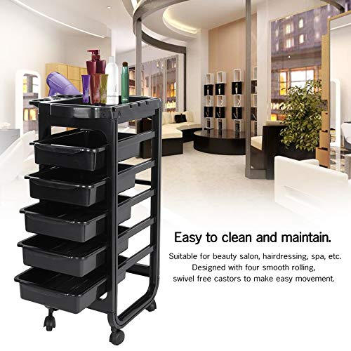 Professional 6 Tiers Barber Storage Trolley Hair Coloring Rolling Cart Beauty Drawers Upscale Salon Hairdresser Tool FGHGFCFFGH