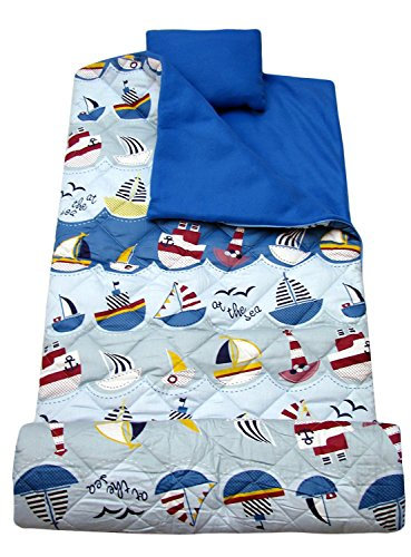 SoHo Kids at The Sea Children Sleeping Slumber Bag with Pillow and Carrying case Lightweight Foldable for Sleep ()