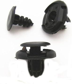 10X Front Bumper Push Type Retainer Clips Clip Nylon Fastener For Honda Acura