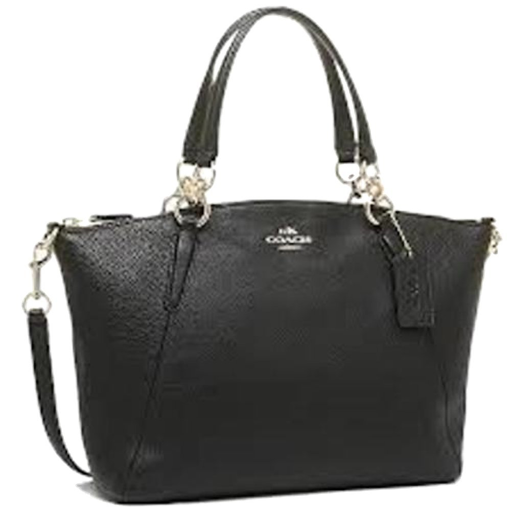 Coach 36625 Pebble Leather Small Kelsey Satchel Black