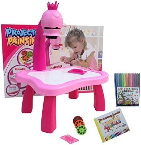 Lorenlli Escritorio de Aprendizaje Infantil con proyector ...