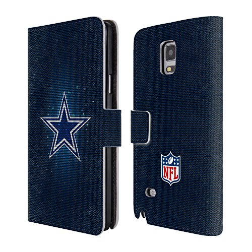 Official NFL LED 2017/18 Dallas Cowboys Logo Leather Book Wallet Case Cover For Samsung Galaxy Note 4 (Nfl Logo Leather)