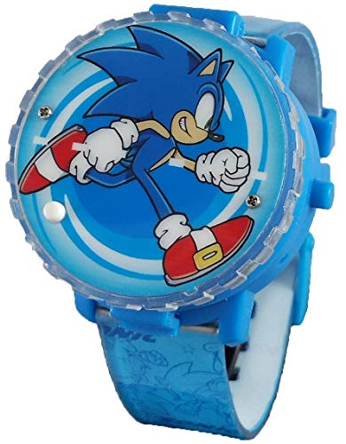 Sonic The Hedgehog Light-Up Spinner LCD Watch