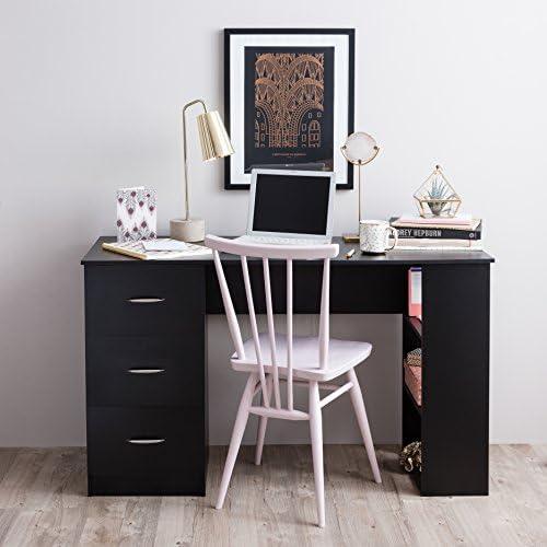 Escritorio de ordenador – 3 cajones + 3 estantes – Mesa de trabajo ...