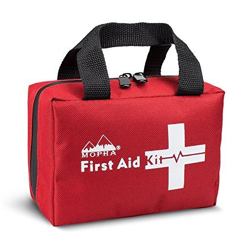First Aid Kit - Mopha 141 Piece Medical Kit for Home, Travel, Camping, Hiking, Office, Car Or Sports, Emergency & Survival