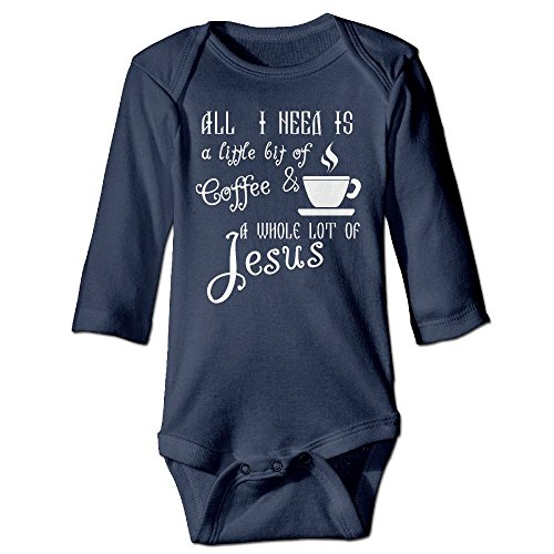 Jesus Freak Costume (ROKMA132 You Need Jesus Baby Long Sleeves Climbing Clothes Unisex Romper Jumpsuit Size 6 M Navy Funny)