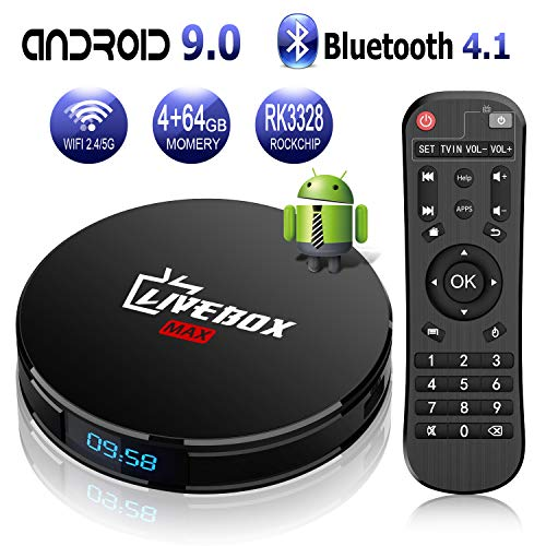 Android 9 0 TV Box with 4GB RAM 64GB ROM RK3328 Bluetooth 4 1 Quad-Core  Cortex-A53 64 Bits, Support Dual-WiFi 2 4GHz/5GHz, 4K 3D Ultra HD HDMI