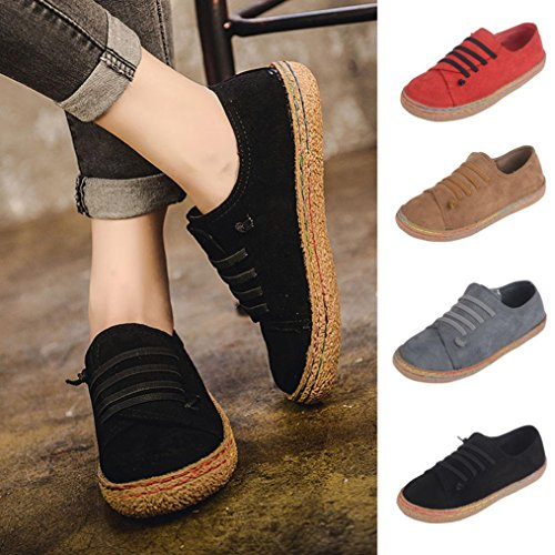 Women Fashion Sneaker - Ladies Soft Flat Ankle Martin Shoes- Female Suede Leather Lace-Up Boots-Soft Sole-Suit for Your Clothes - MOONHOUSE