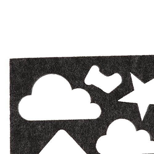 MagiDeal DIY Needle Felt Applique Mold Beginner Kid Toy Craft ToolSchool Educational Manual Training