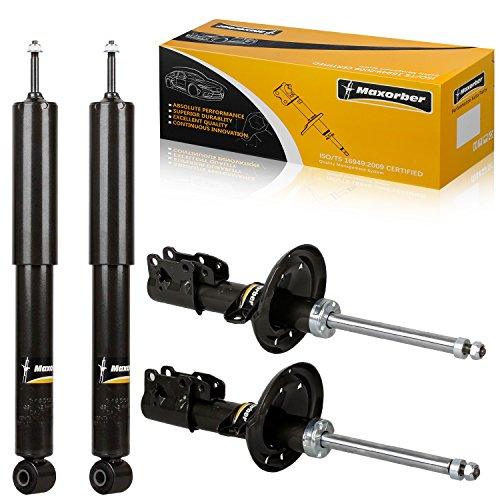 Maxorber 4 Pieces Front & Rear Full Set Shocks Struts Absorber Kit For 2004-2012 Chevrolet Malibu 2005-2010 Pontiac G6