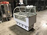 Commercial Freezer Gelato Curved Glass 14-pan