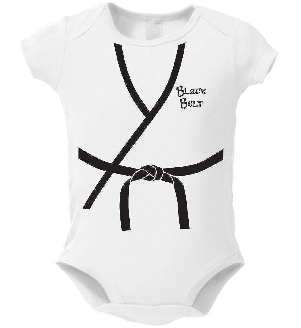 Dustin clothing series Black Belt Baby Boys Girls Toddlers Funny Romper 0-24M