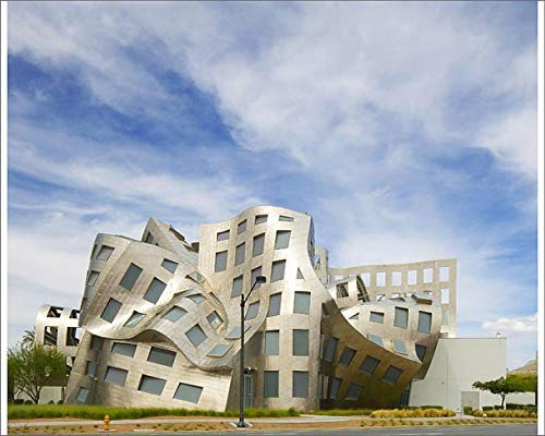 Media Storehouse 10x8 Print of USA, Nevada, Las Vegas. View of Cleveland Clinic Lou Ruvo Center for Brain (12634569) (Lou Ruvo Center For Brain Health Architecture)