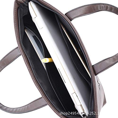 Hombre Bolso De La Cruz Bolso De La Computadora De La Moda De Negocios De La Mujer Bolso Messenger Bag Bolso Maletín Brown