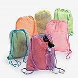 Neon Net Backpacks (1 dozen) - Bulk [Toy]