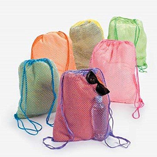 Neon Net Backpacks dozen Bulk
