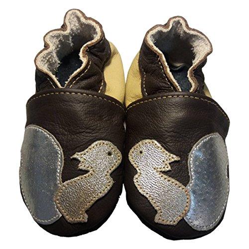 Noisette' de bbkdom- Zapatillas Bebé y niños en piel suave de calidad superior fabricación Europea de 0–