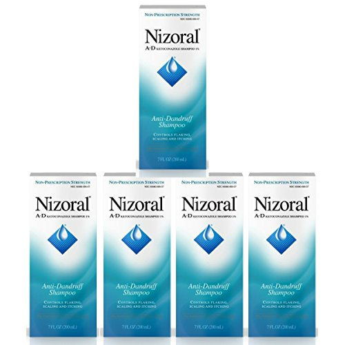 Nizoral A-D Ketoconazole Anti-Dandruff Shampoo, 7 Oz - 5 count by Nizoral